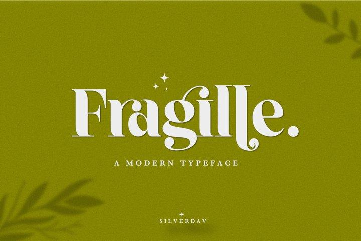 Fragille - A Modern Serif Typeface