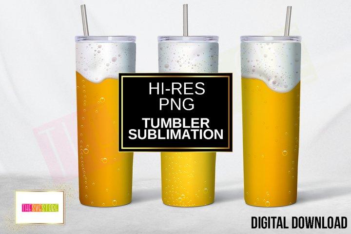 Tumbler Sublimation Design   Beer and Foam   20oz