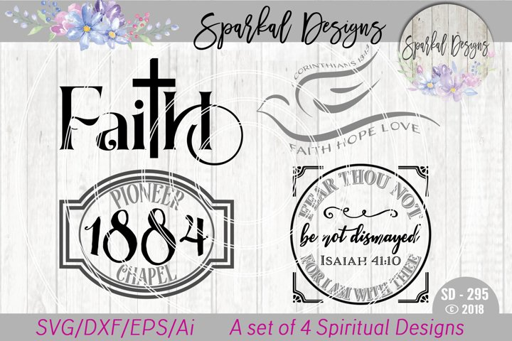 Spiritual Bundle of Four Faith Based Designs