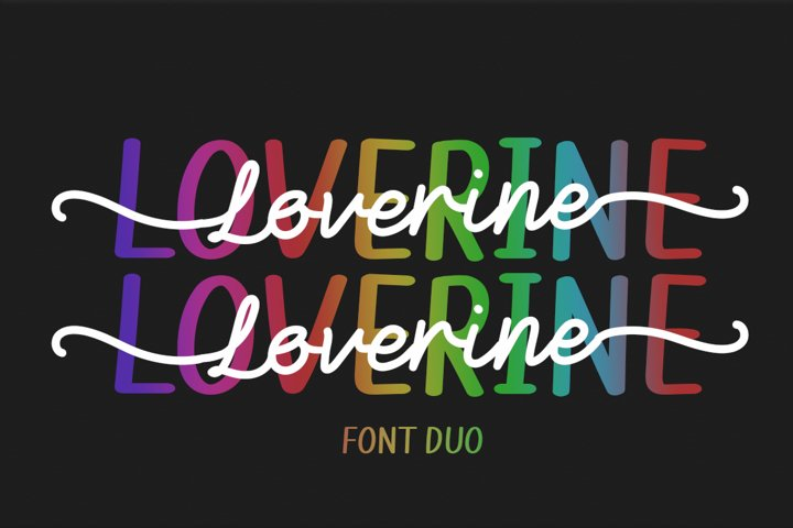 Loverine - Font Duo