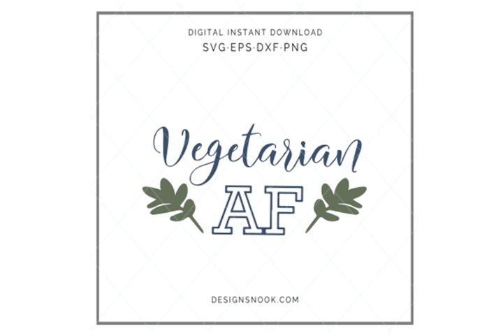 Vegetarian AF - SVG
