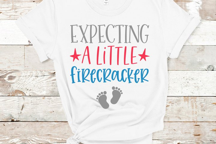 Expecting A Little Firecracker, 4th of July SVG