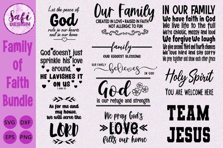 Family of Faith Cut File Bundle- SVG DXF EPS PNG