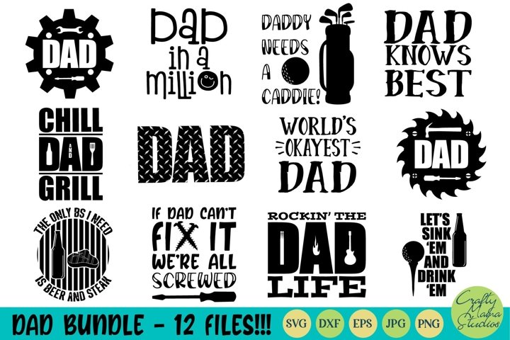Dad Bundle Svg, Dad Life Svg, Fathers Day Svg