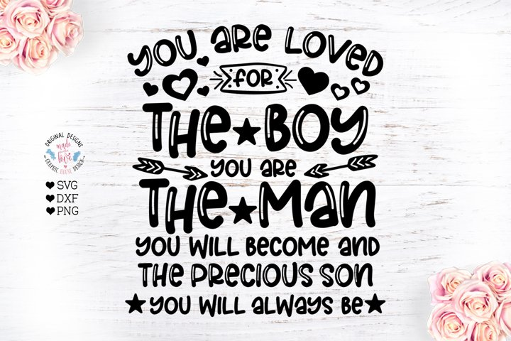 You are Loved for the Boy You are - Nursery Cut File