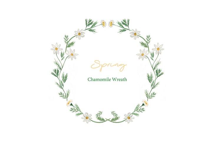 Watercolor Spring Wildflower Wreath