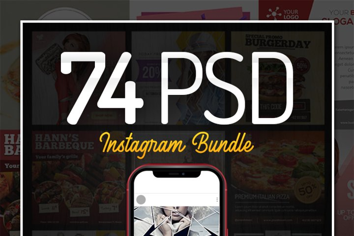 74 PSD Instagram Bundle