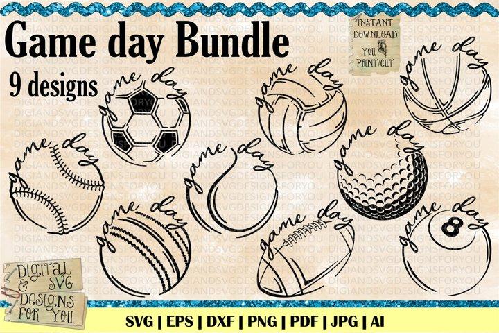 Game day Sport Bundle | Sport bundle | sport svg