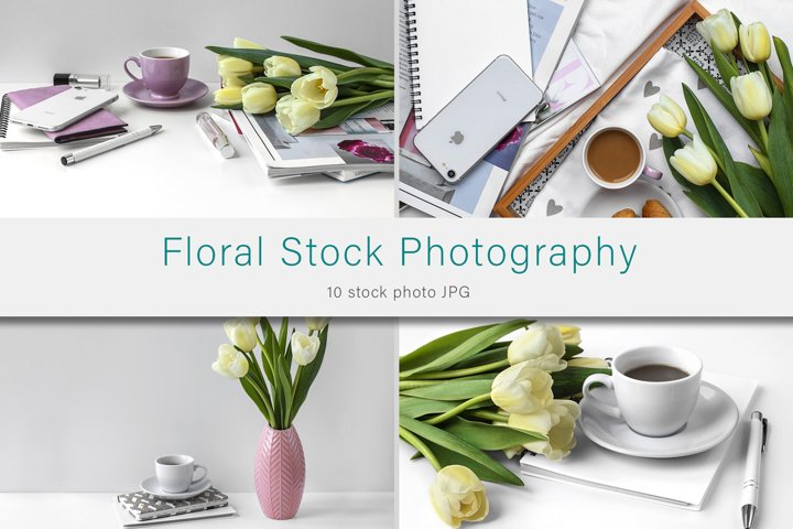 Floral Stock Photo Bundle, Styled Photography