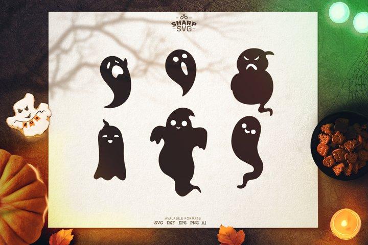 Halloween Ghosts Bundle | Halloween SVG Files