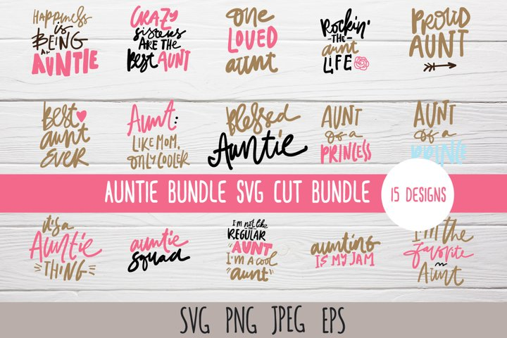 Aunt t-shirt SVG bundle