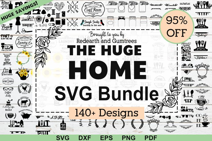The Huge Home and kitchen,Farm and garden SVG,DXF,PNG bundle