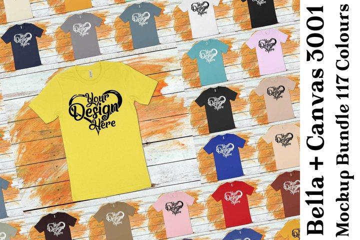 Bella Canvas 3001 T-Shirt Mockup Bundle 439