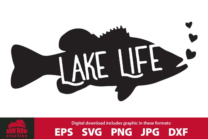 Lake Life Fish - Fishing SVG Cutting File