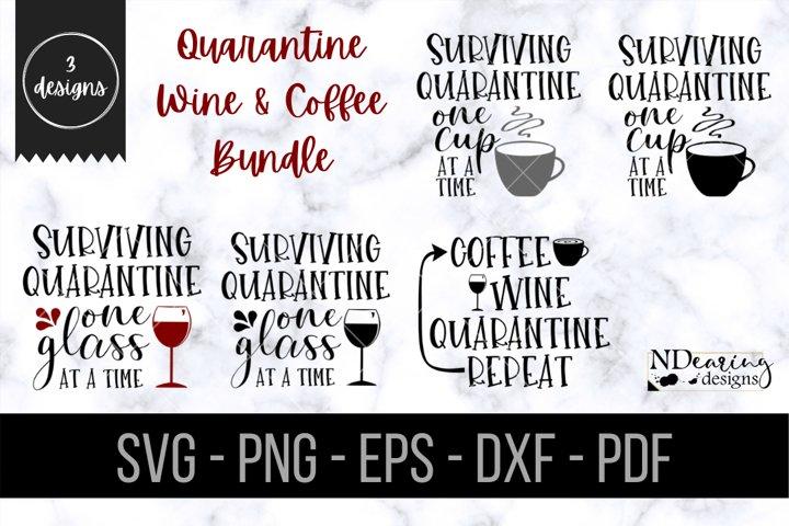 Quarantine Wine Coffee Design Bundle SVG PNG