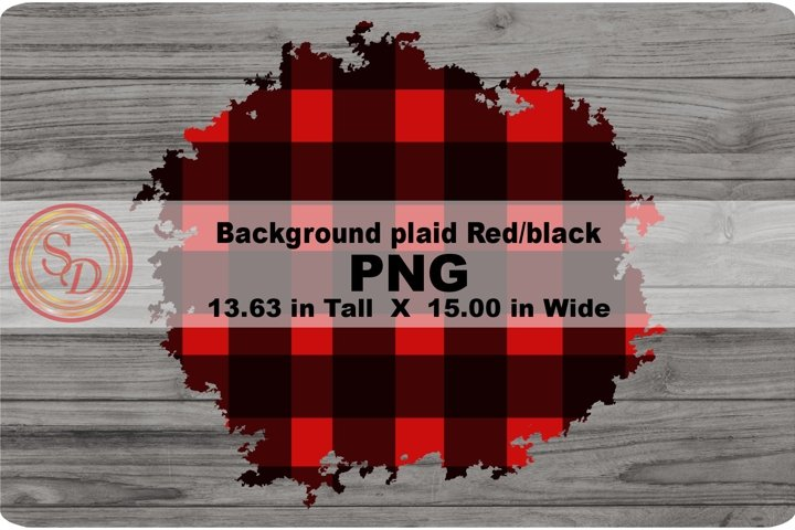 Sublimation background plaid red/black1