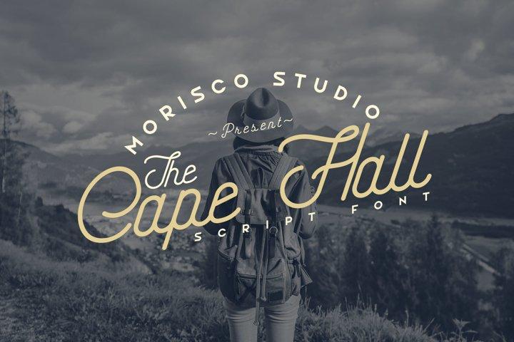 The Cape Hall - Monoline Script Font