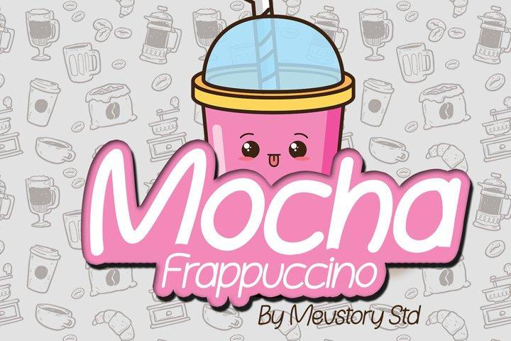 Mocha Frappuccino Font example 2