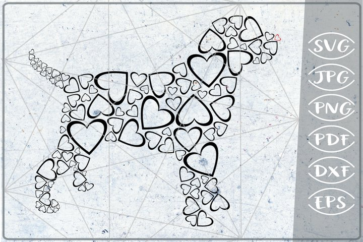 Dog Hearts in Heart Print SVG Cutting File Love Craft PNG