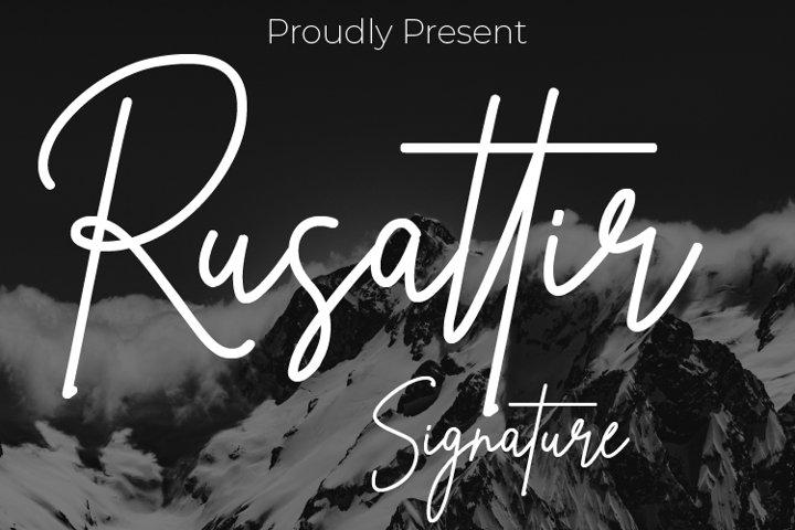 Rusattir Signature