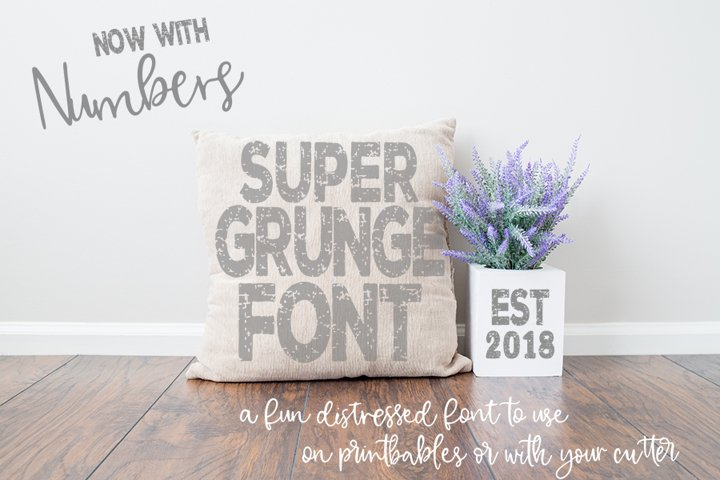 Super Grunge Font now with NUMBERS
