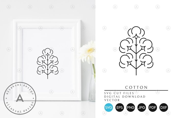 Cotton SVG. Outline Style