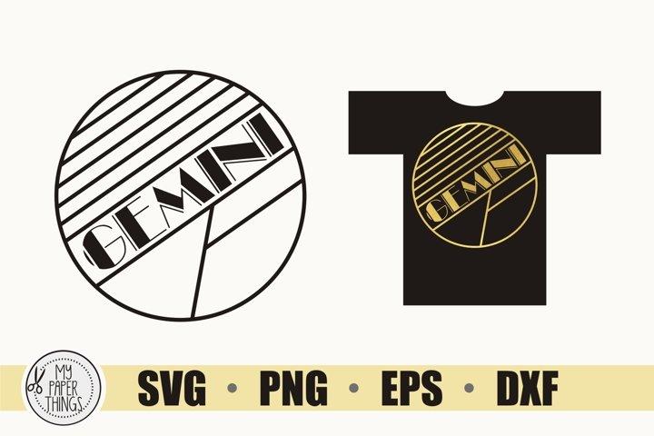 Gemini SVG, Art Deco svg, Zodiac svg, Birthday svg