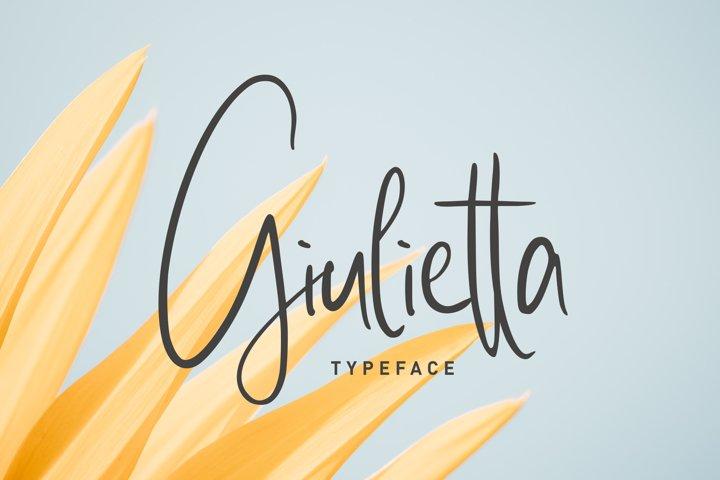 giulietta \\ handwriting
