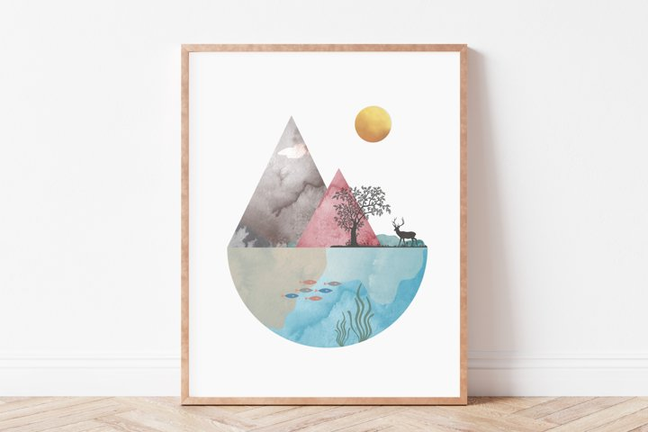 Nordic Wall Art, Scandinavian Wall Art, Nature Wall Art