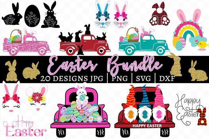 Easter Bundle - 20 Designs, Easter Bunny, Gnomes, Easter Egg