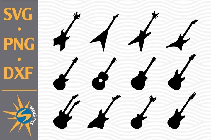 Guitar SVG, PNG, DXF Digital Files Include