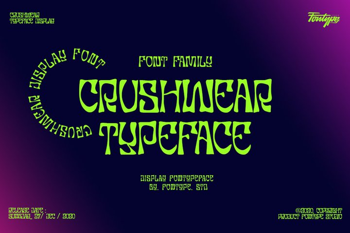 Crushwear - Display Font Family