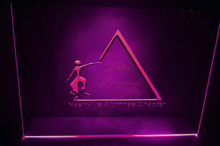 2d and 3d Logo mock ups on glass with neon glow