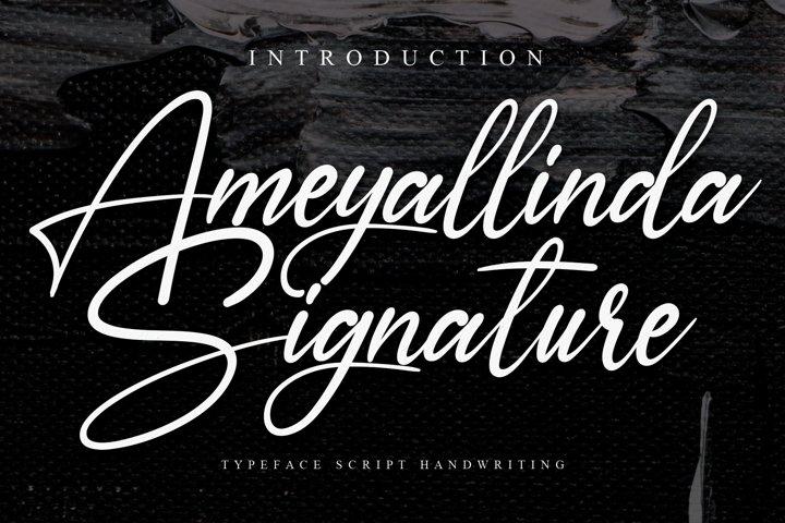 Ameyallinda Signature