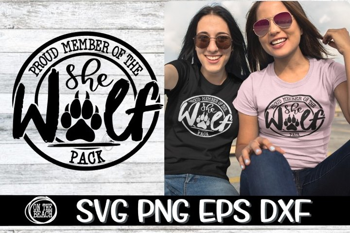 Proud Member Of The She Wolf Pack- SVG PNG EPS DXF