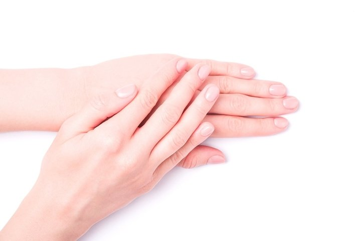 Beautiful female hands isolated