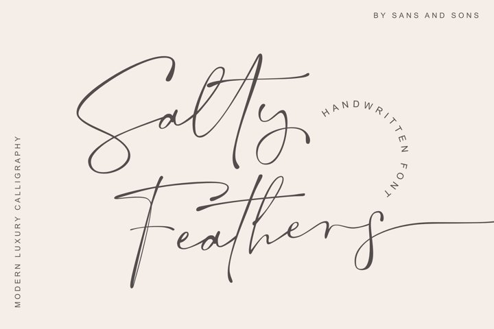 Salty Feathers - Elegant Luxury Font