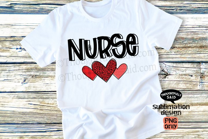 Nurse Hearts PNG For Sublimation, Valentines Day and Love