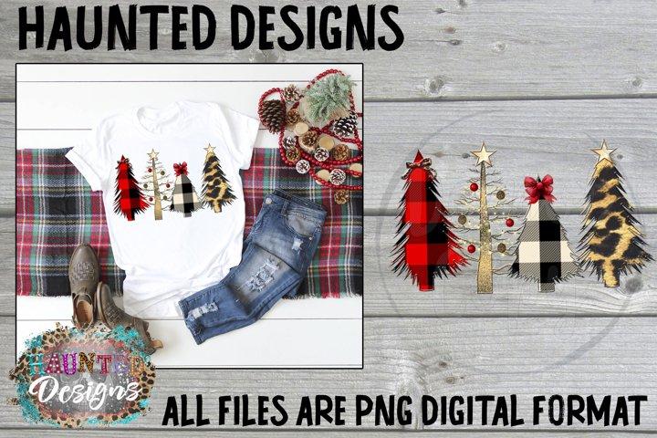 Wild Christmas Tree Clip Art Design
