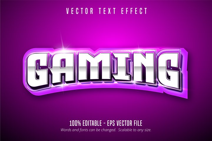 Gaming text, sport style editable text effect