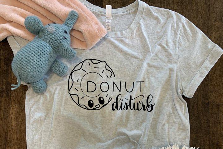 Donut Disturb SVG//cut file//SVG//PNG//Hand Drawn