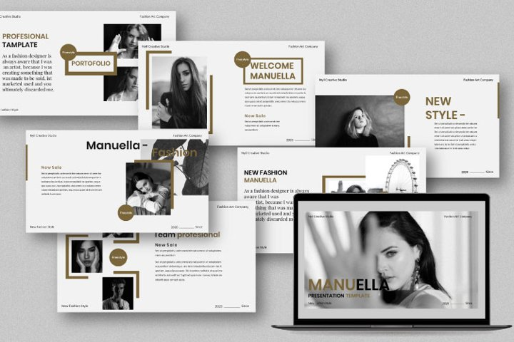 Manuella Creative Google Slides Template