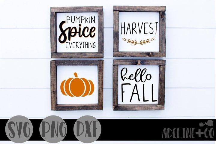 Fall mini sign bundle, SVG, PNG, DXF