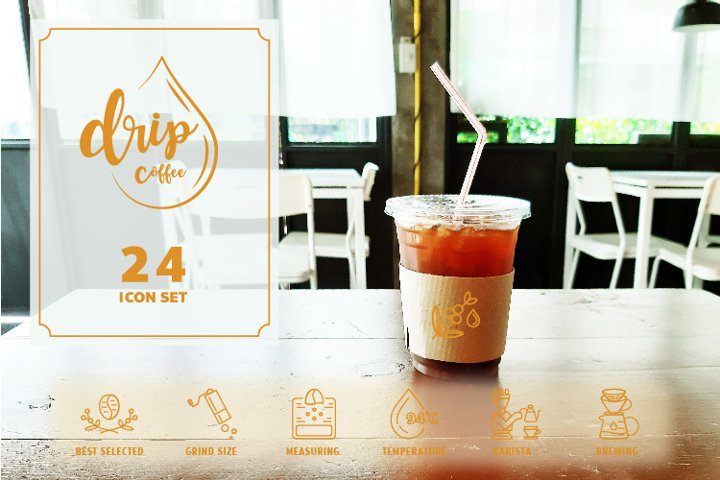 24 DRIP COFFEE ICON