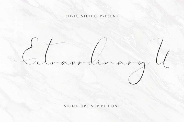 Extraordinary U