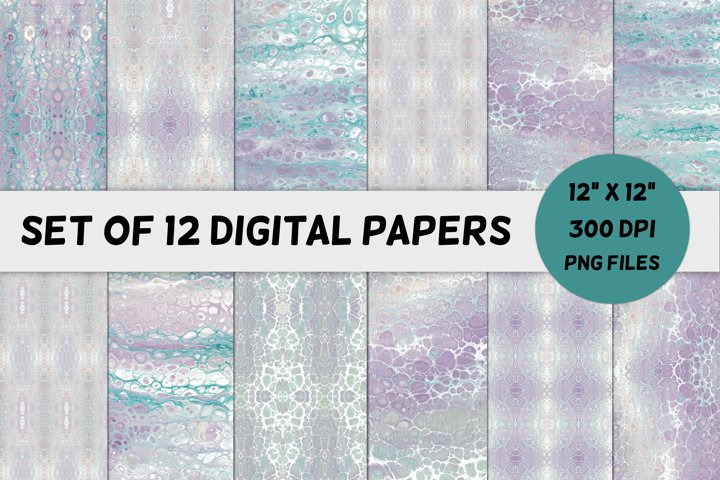 Lavender Acrylic Paint Texture Digital Paper / Backgrounds