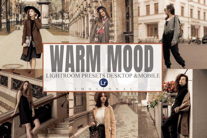 6 Warm Mood Lightroom Desktop and Mobile Presets