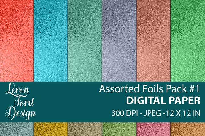 Assorted Foil Textures Pack #1 Digital Paper