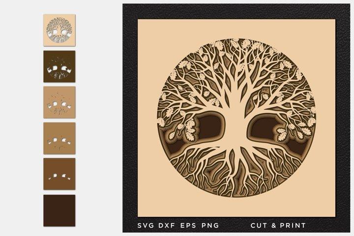 Tree of Life svg, Cut file, Multilayer, Layered svg, Laser