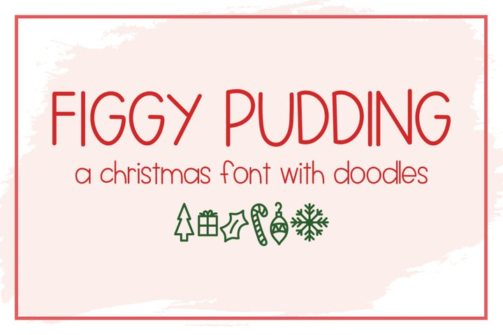 Figgy Pudding - A Christmas Font with Doodles